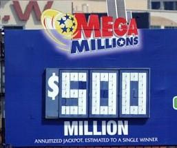$500 Million Mega Millions Draw