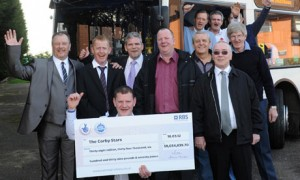 Twelve Corby bus drivers won a huge lottery jackpot