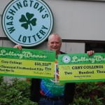 Cary Collings wins two scratch-off ticket in a day