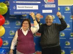 Harold Diamond won the New York Lottery jackpot