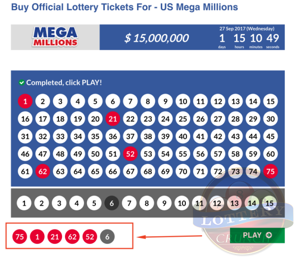 Choose your Mega Millions numbers